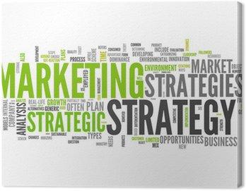 "Obraz na Płótnie Word Cloud ""Strategia Marketing"""