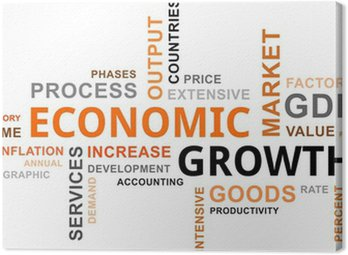 Obraz na Płótnie Word cloud - wzrost gospodarczy