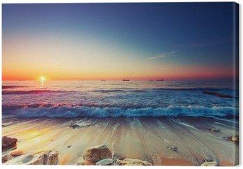 Obraz na Płótnie Wschód słońca nad morzem