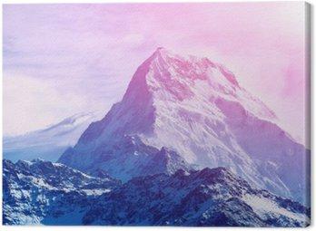 Obraz na Płótnie Wschód słońca w górach