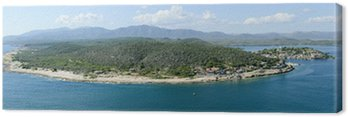 Obraz na Płótnie Wybrzeże Santiago de Cuba z wejściem do portu