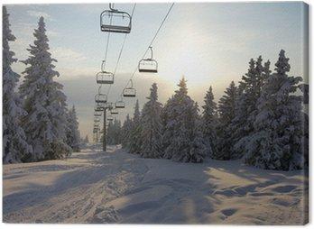 Obraz na Płótnie Wyciąg narciarski