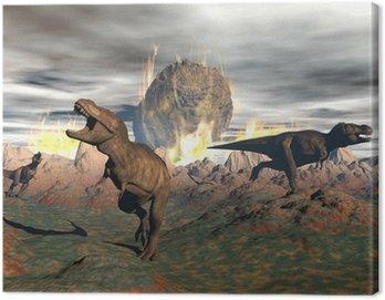 Wyginięcie dinozaurów Tyrannosaurus - 3D render