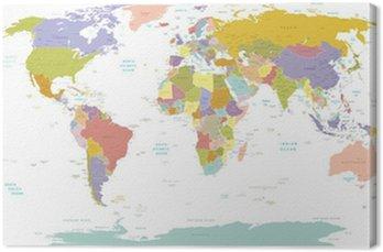 Obraz na Płótnie Wysokiej szczegół świata map.layers używane.