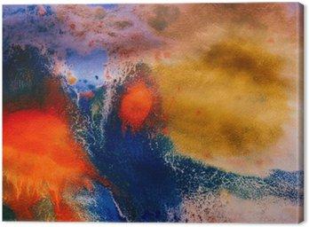 Obraz na Płótnie Wysuszone smugi wielobarwny farby z pęknięciami