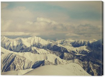 Obraz na Płótnie Wyświetl od stoków narciarskich