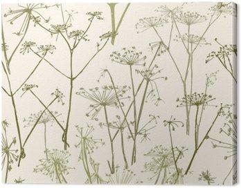 Obraz na Płótnie Wzór kwiatów parasolowe