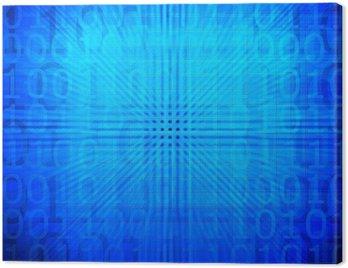 Obraz na Płótnie Wzór streszczenie kod binarny