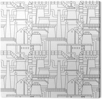 Obraz na Płótnie Wzoru przemysłowego miasta
