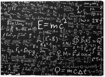 Obraz na Płótnie Wzory i równania fizyczne