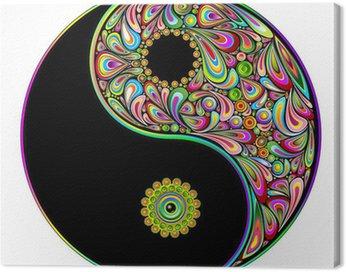 Obraz na Płótnie Yin yang symbol sztuki psychodeliczny projekt-simbolo psichedelico