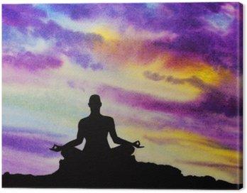 Obraz na Płótnie Yogi w pozycji lotosu