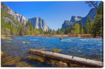 Obraz na Płótnie Yosemite Rzeka Merced El Capitan i Half Dome