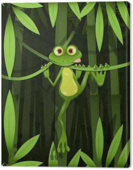 Obraz na Płótnie Żaba w dżungli