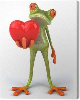 Obraz na Płótnie Żaba z sercem