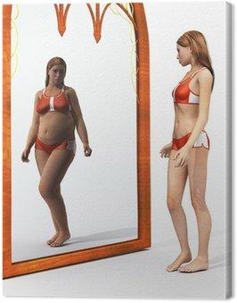 Obraz na Płótnie Zaburzenia jedzenia obraz ciała