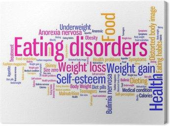 Obraz na Płótnie Zaburzenia odżywiania słowa - ilustracja tag cloud