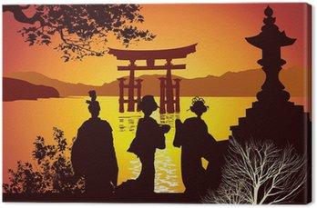 Obraz na Płótnie Zabytki Pocztówka z Japonii