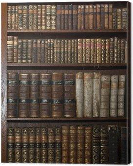 Zabytkowe stare książki w starej biblioteki półki