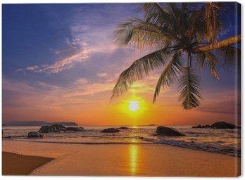 Obraz na Płótnie Zachód słońca nad morzem. Województwo Khao Lak w Tajlandii