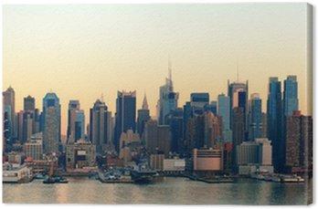Obraz na Płótnie Zachód słońca w Nowym Jorku
