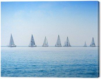 Obraz na Płótnie Żaglówka jacht regaty wyścig na wodzie morza lub oceanu