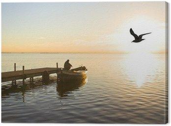 Obraz na Płótnie Zamyślony rybak