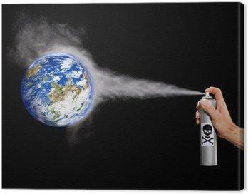 Obraz na Płótnie Zanieczyszczają planetę Ziemię.