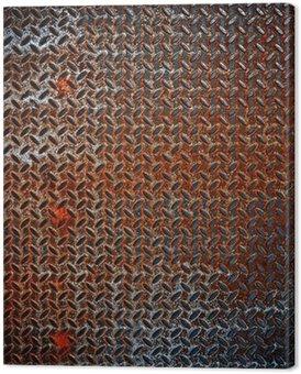 Obraz na Płótnie Zardzewiały metal tle diament