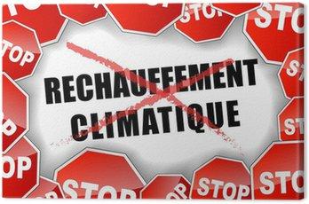 Obraz na Płótnie Zatrzymać globalne ocieplenie koncepcji