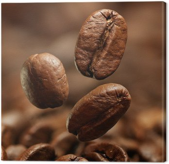 Obraz na Płótnie Zbliżenie z ziaren kawy