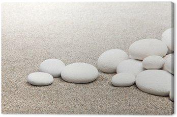 Obraz na Płótnie Zen - kamienie i biały piasek
