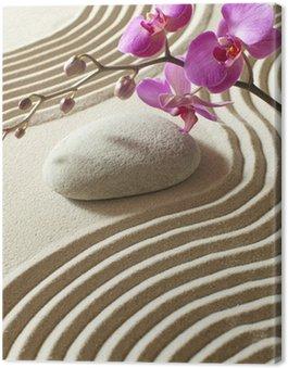 Obraz na Płótnie Zen orientalny kwiat