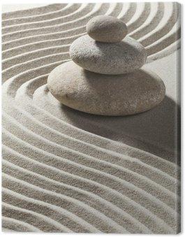 Obraz na Płótnie Zen piasku i fal na trzech rolkach