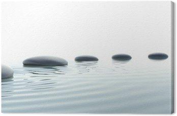 Zen ścieżka z kamieni w formacie panoramicznym