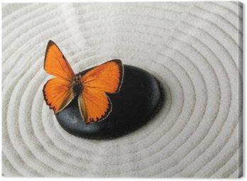 Obraz na Płótnie ZEN Stone z motylem
