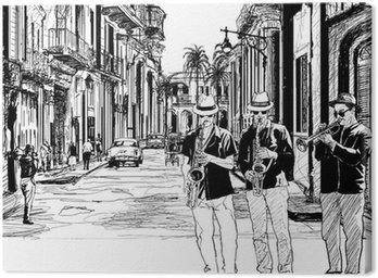 Zespół jazzowy na Kubie