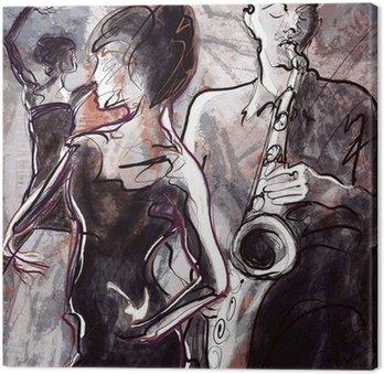 Obraz na Płótnie Zespół jazzowy z tancerzami