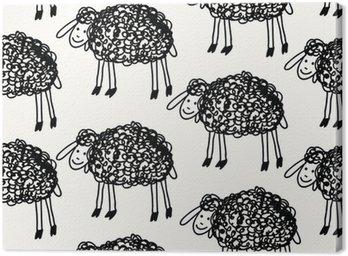 Obraz na Płótnie Zestaw powtarzalne z cute owiec