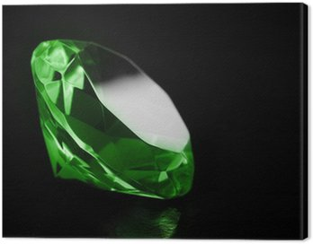 Obraz na Płótnie Zielony diament