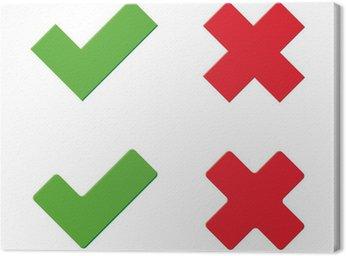 Obraz na Płótnie Zielony i czerwony x kleszcz