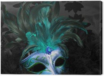 Obraz na Płótnie Zielony i niebieski tajemnicze maski (Wenecja)