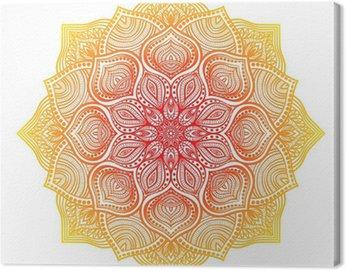 Obraz na Płótnie Zielony kwiatowy ornament okrągłe