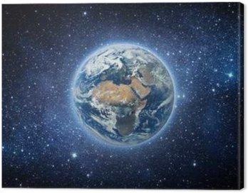 Obraz na Płótnie Ziemia i Galaxy. Elementy tego zdjęcia dostarczone przez NASA.