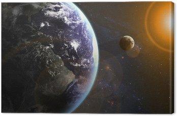 Obraz na Płótnie Ziemia w przestrzeni. Elementy tego zdjęcia dostarczone przez NASA