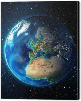 Obraz na Płótnie Ziemia w przestrzeni - w tle Universe - Europe