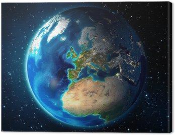 Ziemia w przestrzeni - w tle Universe - Europe