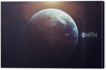 Obraz na Płótnie Ziemia - wysokiej rozdzielczości piękne sztuki prezentuje planety Układu Słonecznego. Ten obraz elementy dostarczone przez NASA