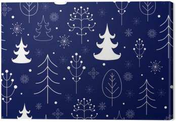 Obraz na Płótnie Zima tle lasu