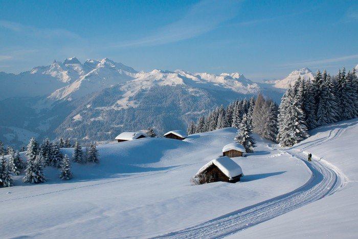 Obraz na Płótnie Zimowe wędrówki w Alpach - Zima